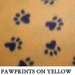 Pawprints on Yellow