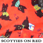 Scotties on Red