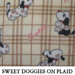 Sweet Doggies on Plaid