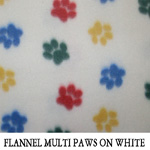 Multi Paws on White