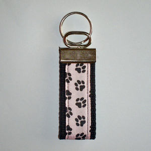 Pawprints on Pink Black Trim