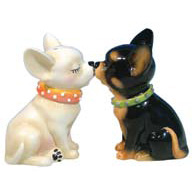 Magnetic Chihuahua Salt & Pepper Shakers