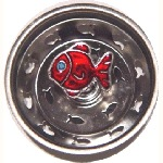 Red Fish Sink Strainer